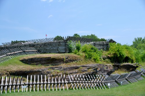 Outer stockade at Fort Ligonier