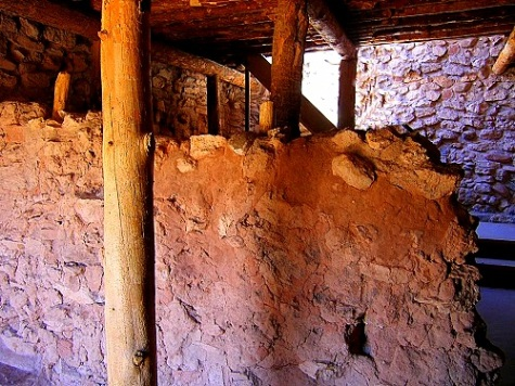 Inside construction at Tuzigoot