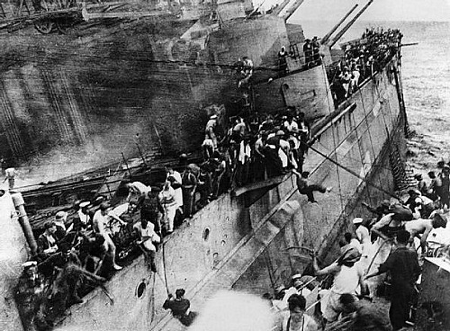 Escaping from a sinking HMS Prince of Wales